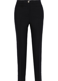Versace Woman Silk Slim-leg Pants Black