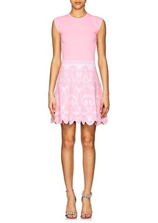 Versace Women's Baroque-Print Compact-Knit A-Line Dress