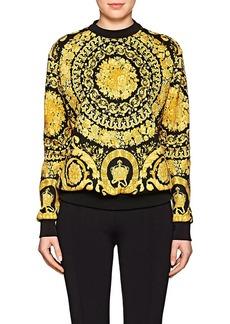 Versace Women's Baroque-Print Cotton-Blend Sweatshirt