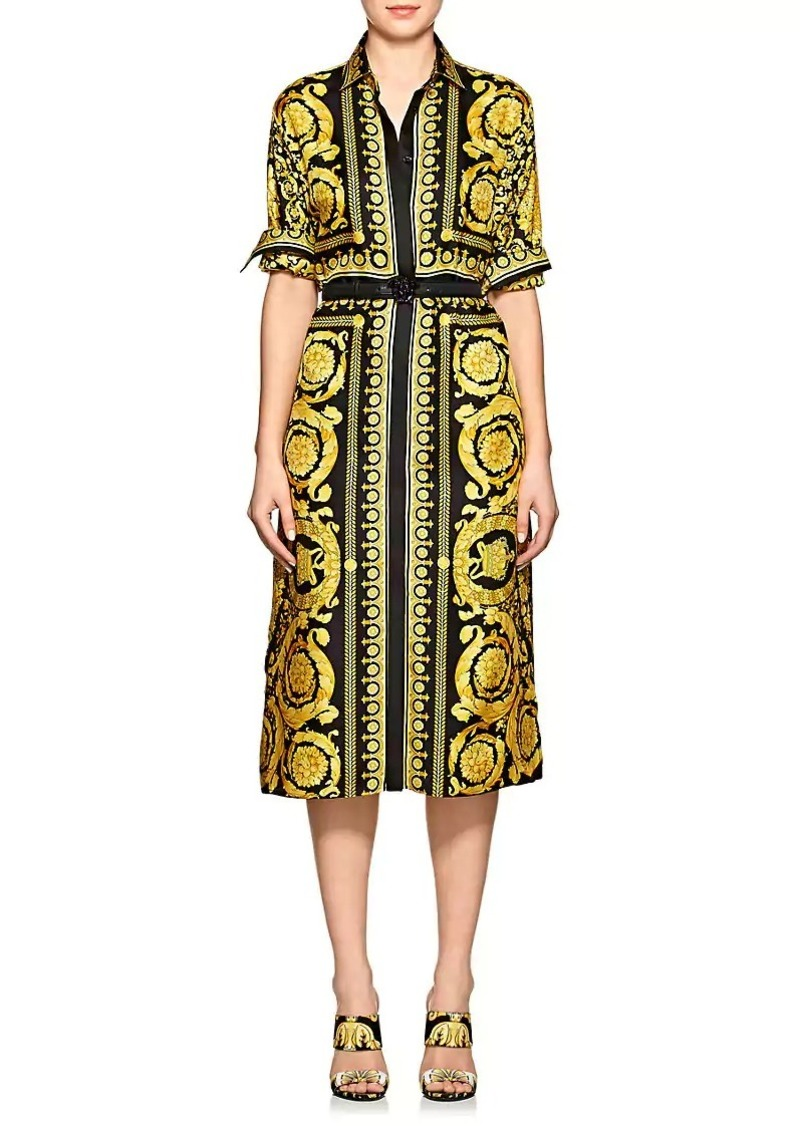 771ad545727 On Sale today! Versace Versace Women s Baroque-Print Silk Belted ...