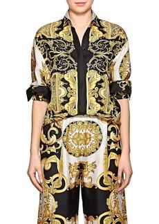 Versace Women's Baroque-Print Twill Blouse