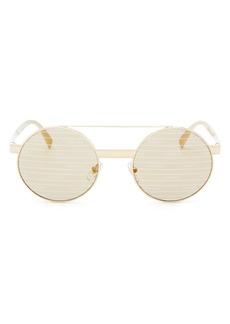 Versace Women's Brow Bar Round Sunglasses, 52mm