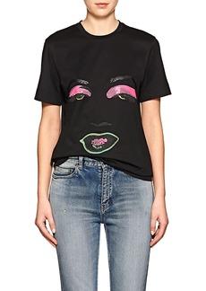 Versace Women's Face-Graphic Cotton T-Shirt