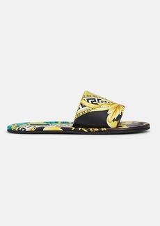 Versace Women's Graphic Leather Slide Sandals