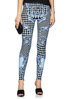 Versace Women's Harlequin-Print High-Waist Leggings