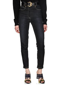 Versace Women's High-Rise Tapered Jeans