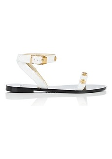 Versace Women's Leather Ankle-Wrap Sandals