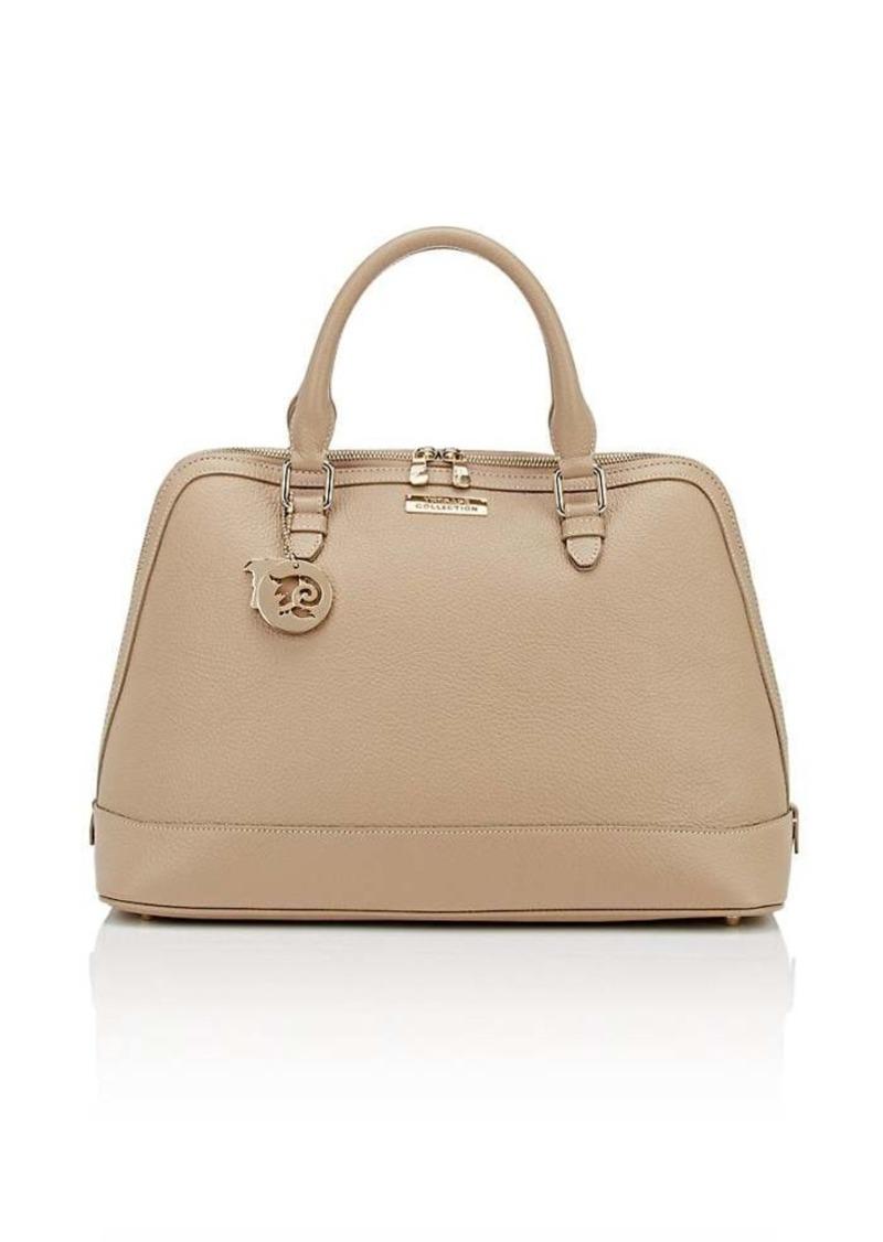 60dc681d5ab1c SALE! Versace Versace Women s Leather Bowler Satchel - Neutral