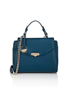 Versace Women's Leather Satchel - Blue