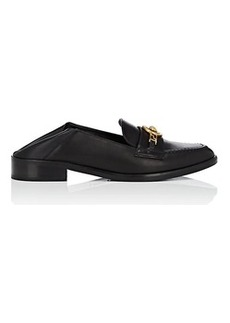 Versace Women's Logo-Bit Leather Loafers