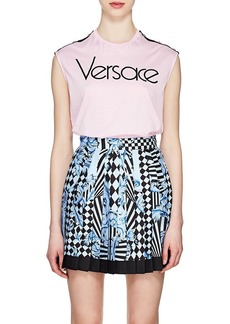 Versace Women's Logo-Print Cotton Jersey Tank