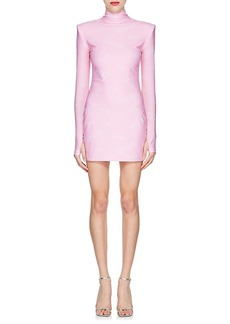 Versace Women's Logo-Print Turtleneck Minidress