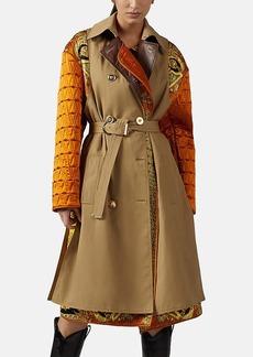 Versace Women's Mixed-Media Trench Coat