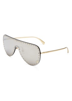 Versace Women?s Rimless Shield Sunglasses, 142mm