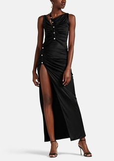 Versace Women's Ruched Fluid Jersey Gown