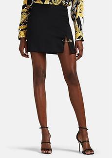 Versace Women's Safety-Pin-Detailed Wool Miniskirt