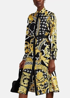 Versace Women's Savage Baroque Silk Shirtdress