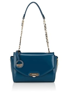 Versace Women's Small Leather Shoulder Bag - Blue