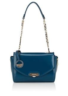 Versace Women's Small Leather Shoulder Bag - Blue