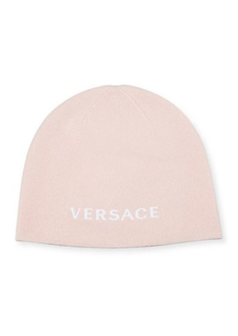Versace Wool Logo Beanie
