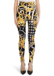 Versace Zebra Barocco Print Pants