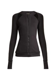 Versace Zip-through jersey performance jacket