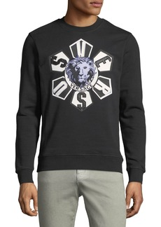 Versace Versus Lion-Embroidered Sweatshirt