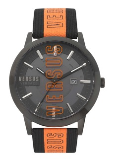 VERSUS Versace Barbes Solar Canvas Strap Watch, 44mm