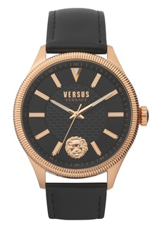 VERSUS Versace Colonne Leather Strap Watch, 45mm