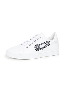 Versus Versace Low Top Sneakers with Safety Pin Detail