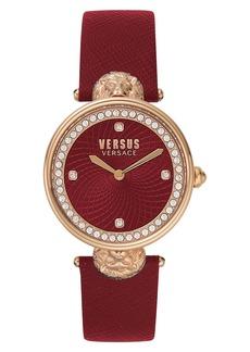 VERSUS Versace Victoria Leather Strap Watch, 34mm