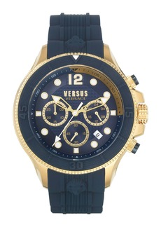 VERSUS Versace Volta Chronograph Silicone Band Watch, 49mm