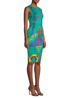 Versace Virtual Printed Sheath Dress