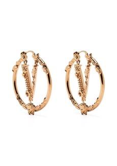 Versace Virtus hoop earrings