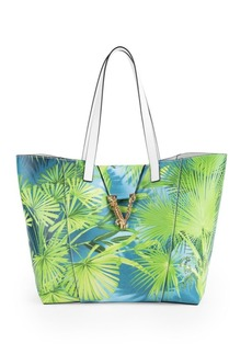 Versace Virtus Jungle-Print Leather Tote