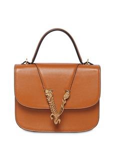 Versace Virtus Leather Top Handle Bag