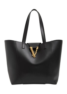 Versace Virtus Leather Tote Bag
