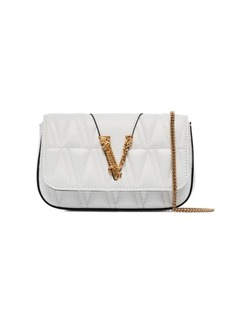 Versace Virtus quilted clutch