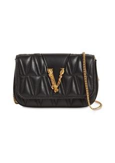 Versace Virtus Quilted Leather Shoulder Bag