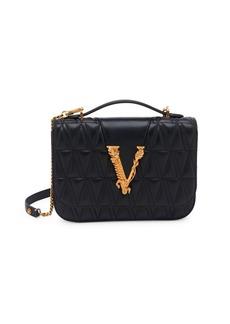 Versace Medium Virtus Quilted Leather Shoulder Bag