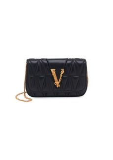 Versace Virtus Trapuntata Small Quilted Shoulder Bag