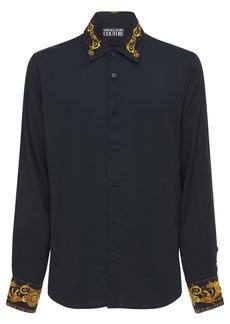 Versace Viscose Shirt W/baroque Printed Details