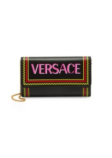 Versace Vitello Stamp Logo Clutch