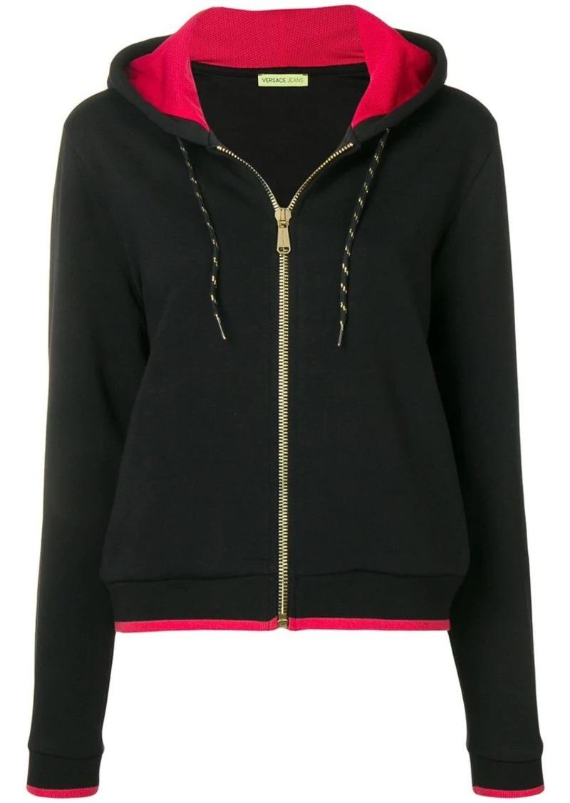 Versace VJ logo embroidered hoodie