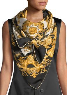 Versace Vogue Collage Silk Shawl