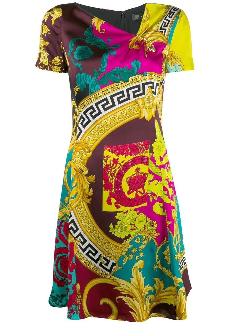 Versace Voyage Barocco print dress