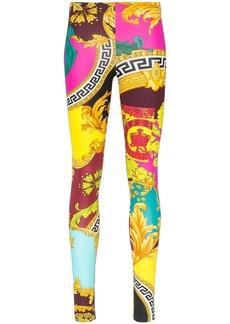 Versace Voyage Barocco print leggings