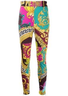 Versace Voyage Barocco print stretch leggings