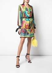 Versace Voyage Barocco printed shirt dress