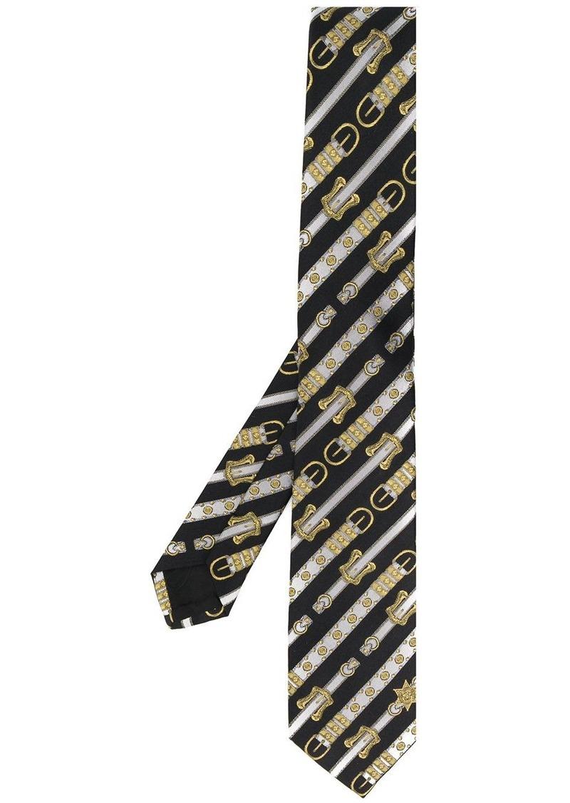 Versace Western belt print tie